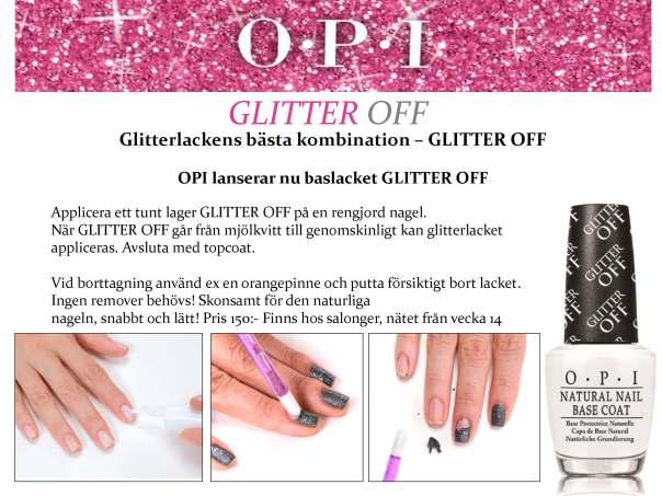 OPI lanserar Glitter Off