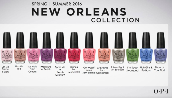 OPI presenterar våren 2016 New Orleans Collection